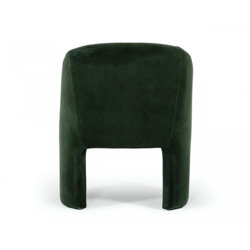 VIG Furniture - Modrest Danube - Modern Jade Green Fabric Dining Chair