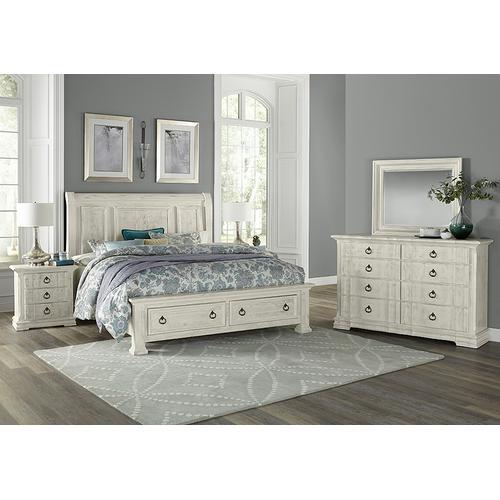 Vaughan-Bassett - Queen Sleigh Storage Bed