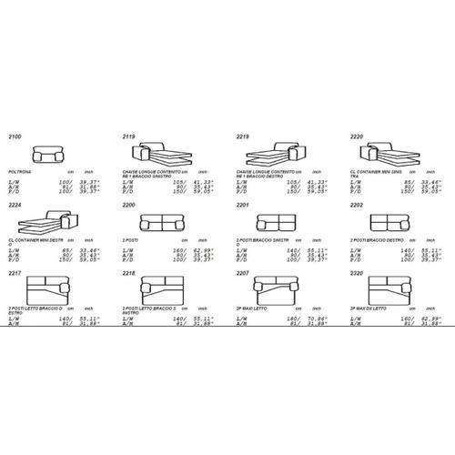 VIG Furniture - Estro Salotti Sacha - Modern Black Leather Reversible Sectional Sofa Bed with Storage