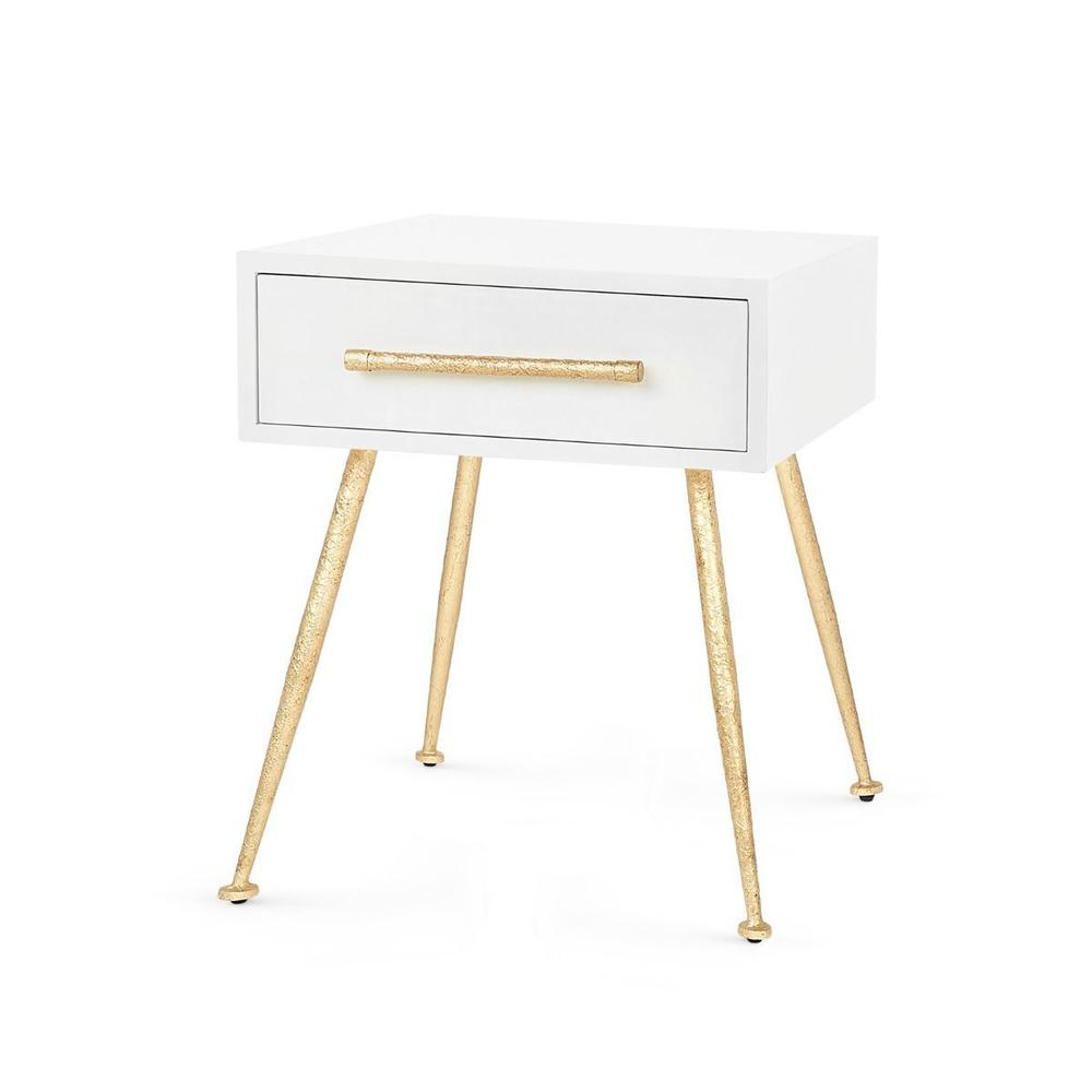 See Details - Arno 1-Drawer Side Table, White