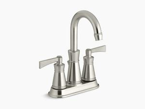 Vibrant Brushed Nickel Centerset Bathroom Sink Faucet Product Image