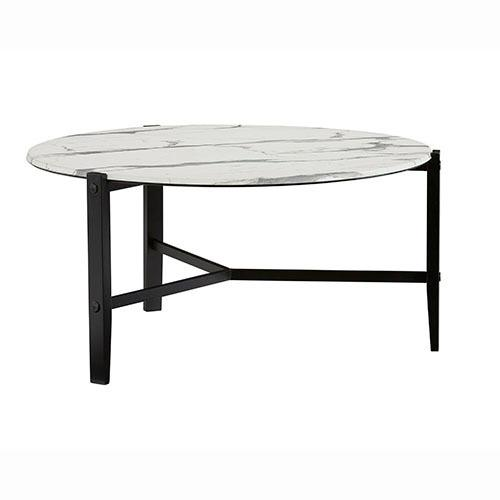 Cocktail Table - Chantilly White/ Black Finish