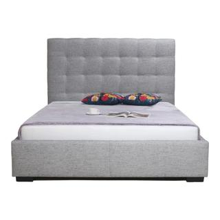 Product Image - Belle Storage Bed Queen Light Grey Fabric