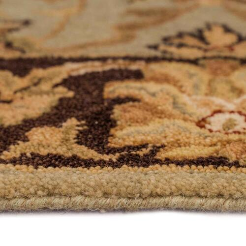 Capel Rugs - Mumtaz-Meshed Celadon Cocoa - Rectangle - 4' x 6'