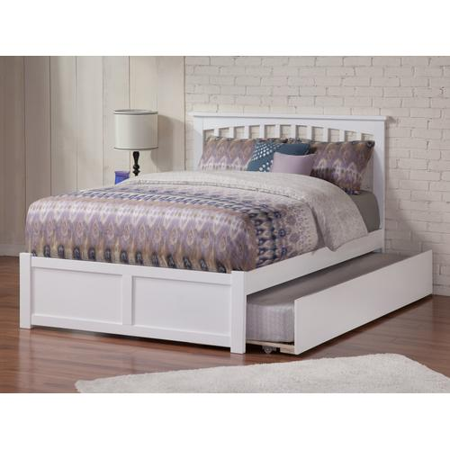 Mission Full Flat Panel Foot Board with Urban Trundle White