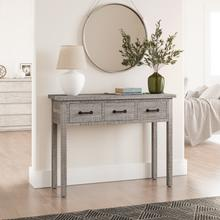 See Details - North Coast 3 Drawer Accent Console - Grey Wash