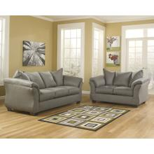 Signature Design by Ashley Darcy Living Room Set in Cobblestone Microfiber