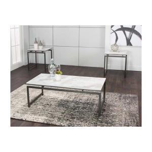 Cramco Furniture - Elsa-whte Fx Mrbl/blk Occ 3pk