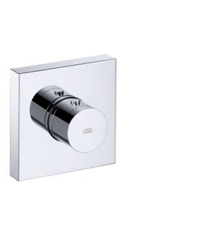 Chrome Thermostatic module 120/120 for concealed installation square Product Image