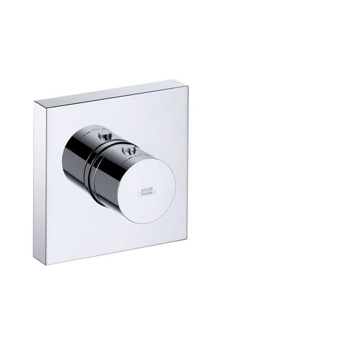 Polished Red Gold Thermostatic module 120/120 for concealed installation square