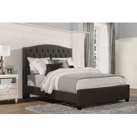 Lila King Bed - Onyx Linen