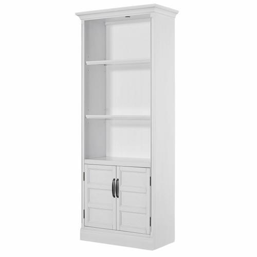 See Details - SHOREHAM - EFFORTLESS WHITE 35 in. Door Bookcase