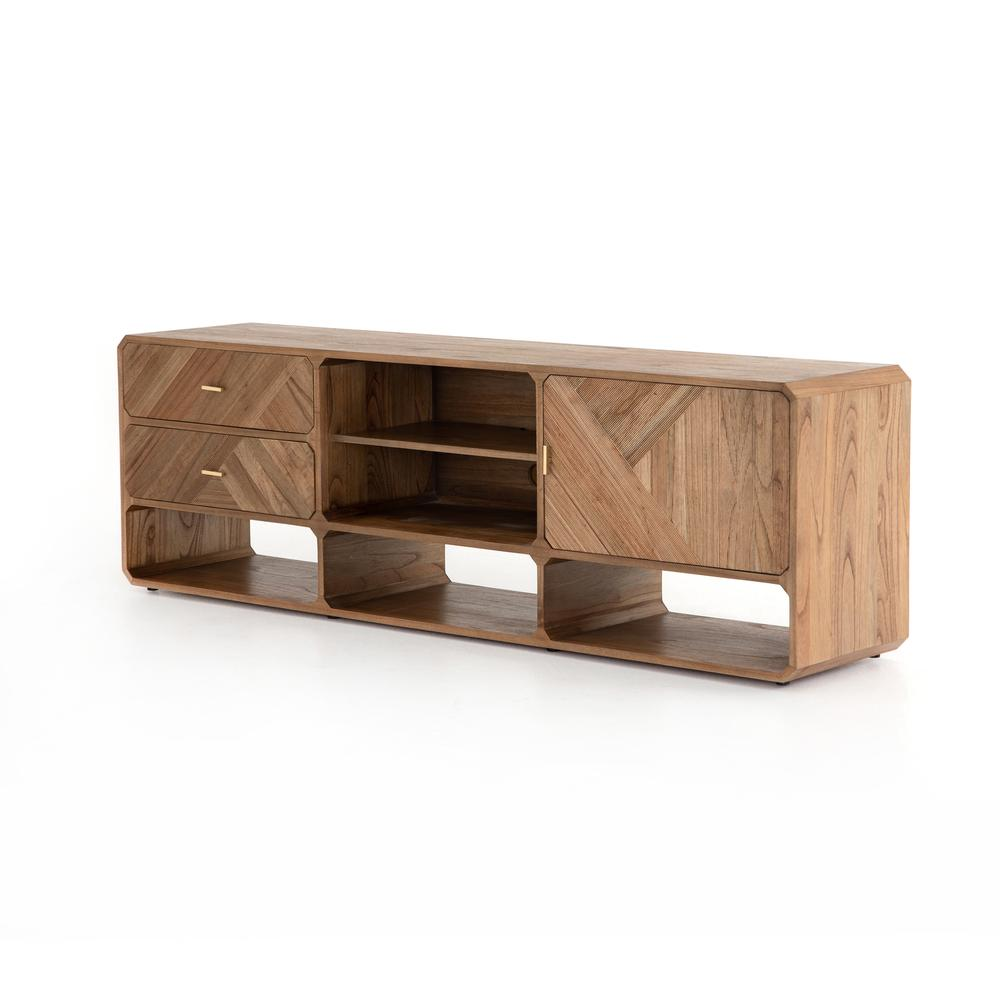 Caspian Media Console-natural Mindi