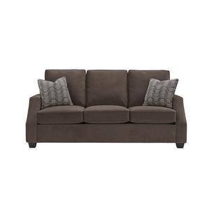 3 Cushion Sofa - Shown in 113-16 Chocolate Twill Microfiber Finish