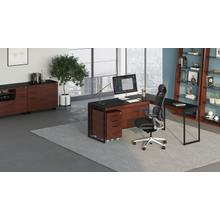 View Product - Sequel 20 6101 Desk in Chocolate Walnut Black