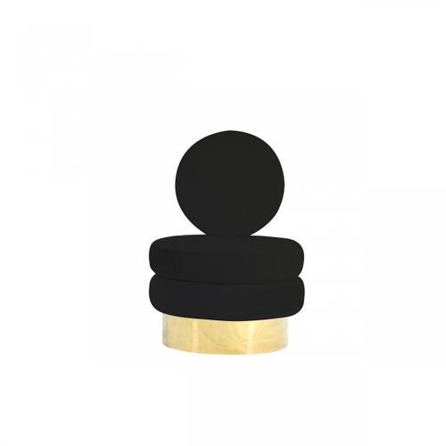 VIG Furniture - Modrest Fleming - Modern Black Velvet & Gold Accent Chair