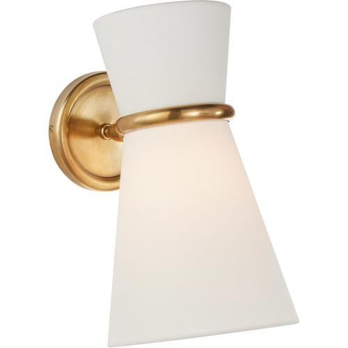 AERIN Clarkson 1 Light 7 inch Hand-Rubbed Antique Brass Single Pivoting Sconce Wall Light, Small