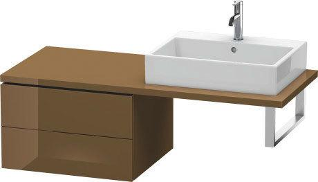Low Cabinet For Console, Olive Brown High Gloss (lacquer)