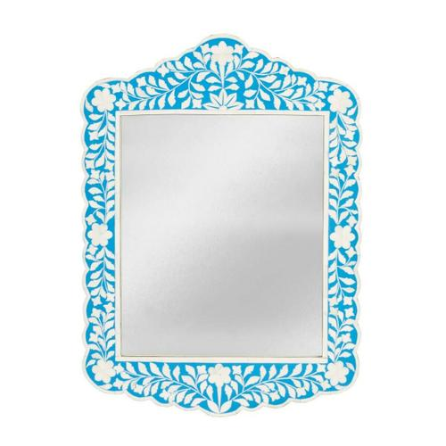 Butler Specialty Company - This magnificent Wall Mirror features sophisticated artistry and consummate craftsmanship. The botanic patterns covering the piece are created from white bone inlays cut and individually applied in a sea of blue by the hands of a skillful artisan. No two mirrors are ever exactly alike, ensuring this piece will hang as a bonafide original.