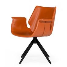View Product - Modrest Hiawatha - Modern Cognac Eco-Leather Dining Chair