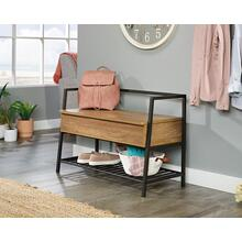 Entryway Bench with Hidden Storage & Shelf