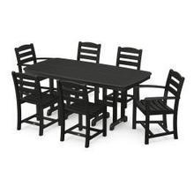 View Product - La Casa Cafu00e9 7-Piece Dining Set in Black