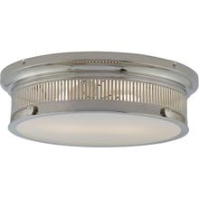 E. F. Chapman Alderly 2 Light 16 inch Polished Nickel Flush Mount Ceiling Light, E.F. Chapman, White Glass