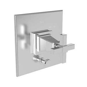 Antique Brass Balanced Pressure Tub & Shower Diverter Plate with Handle