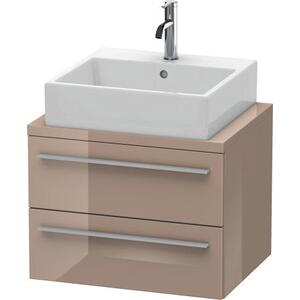 Vanity Unit For Console Compact, Cappuccino High Gloss (lacquer)