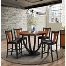 Boyer Transitional Amber and Black Counter-height Chair Product Image