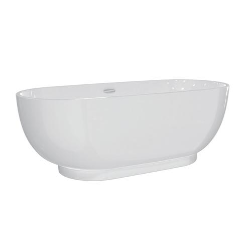 """Roosevelt 71"""" Acrylic Tub with Integral Drain and Overflow - Polished Nickel Drain and Overflow"""