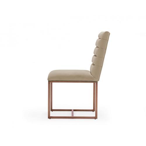 VIG Furniture - Modrest Barker - Modern Beige & Brush Gold Dining Chair (Set of 2)