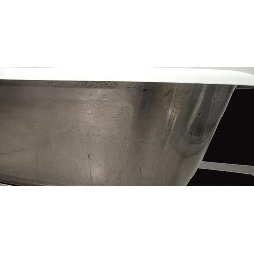 "Doyle 67"" Cast Iron Double Roll Top Tub"