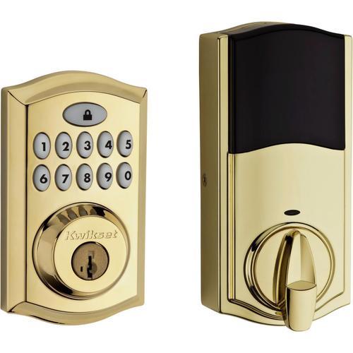 Kwikset - 913 Smartcode Traditional Electronic Deadbolt - Lifetime Polished Brass