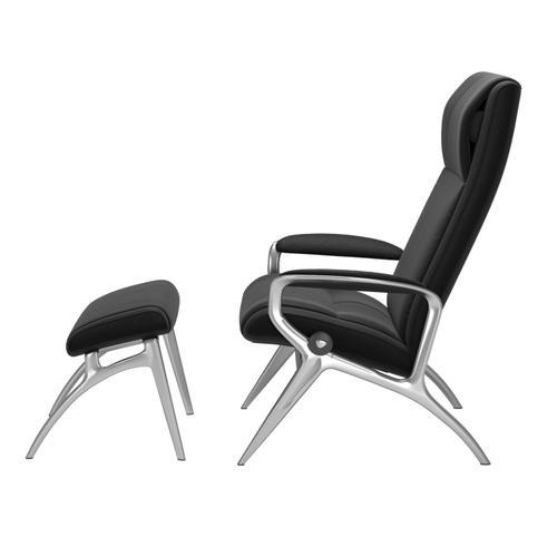 Stressless By Ekornes - Stressless® James alu chair with footstool