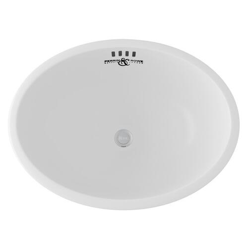 White Perrin & Rowe Oval Undermount Sink