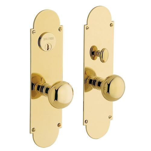 Non-Lacquered Brass Boston Entrance Set