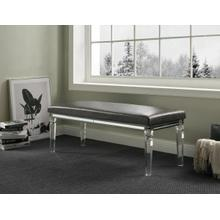 ACME Sawyer Bench - 96977 - Glam/Contemporary - PU, Acrylic Leg, MDF, PB - PU and Clear Acrylic