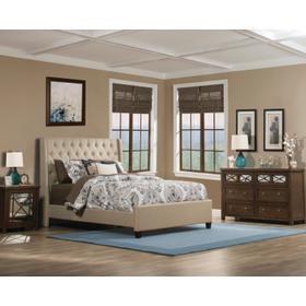 Churchill Queen Bed - Linen Sandstone