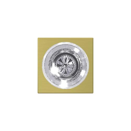 Custom Hobson Glass Knob with Collins Trim Hall-Closet and Bed-Bath Lock - Satin Brass
