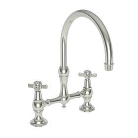 Polished Nickel - Natural Kitchen Bridge Faucet