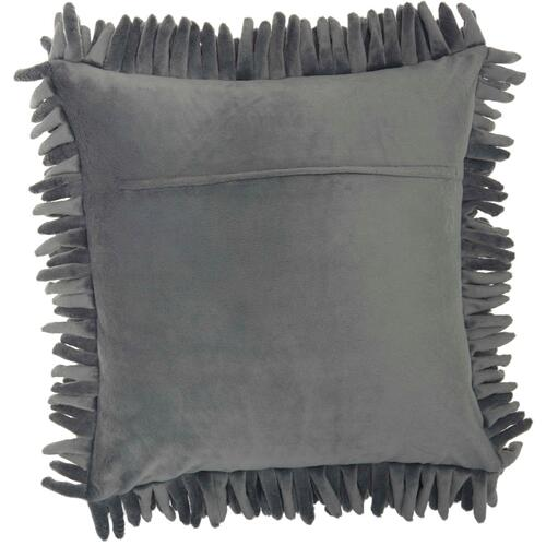 "Life Styles Ys103 Dark Grey 20"" X 20"" Throw Pillow"