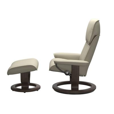 See Details - Stressless® Admiral (L) Classic chair with footstool
