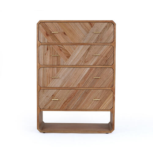 Caspian 4 Drawer Dresser-natural Mindi