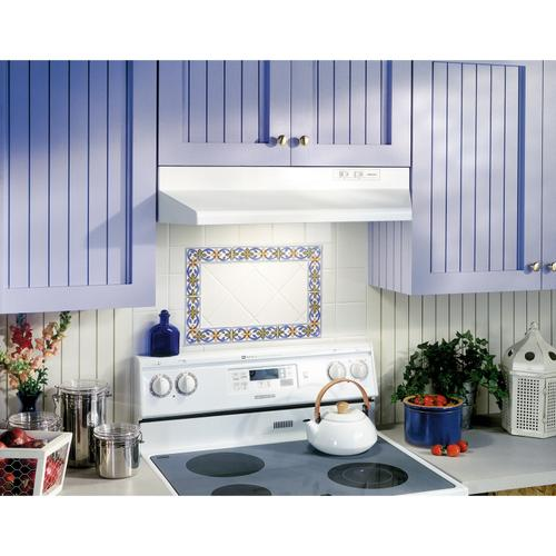 Broan® 30-Inch Ducted Under-Cabinet Range Hood, 160 CFM, White