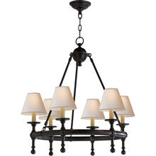 E. F. Chapman Classic 6 Light 26 inch Bronze Chandelier Ceiling Light