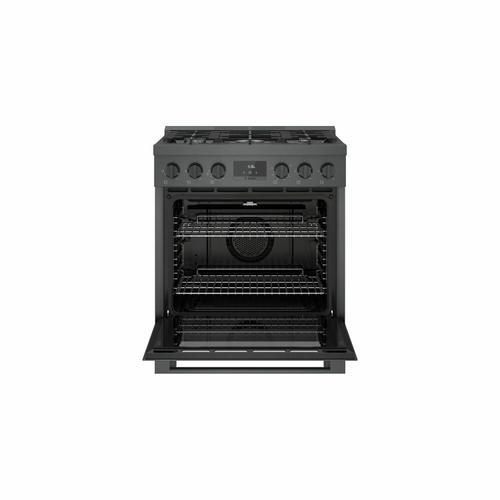 Bosch - 800 Series Gas Freestanding Range 30'' Black Stainless Steel HGS8045UC
