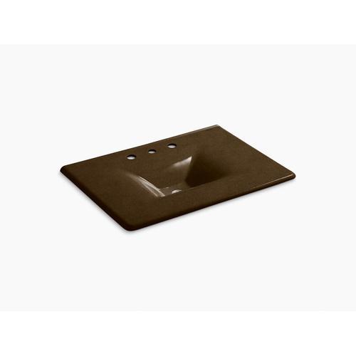 """Black 'n Tan 31"""" Vanity-top Bathroom Sink With 8"""" Widespread Faucet Holes"""