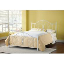 Ruby King Metal Bed, Textured White
