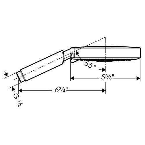 Brushed Nickel Handshower 150 3-Jet, 2.5 GPM